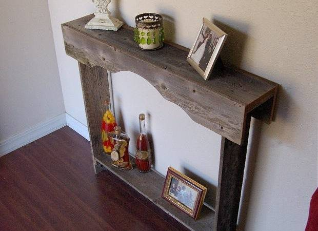 Skinny Console Table Small Country Rustic