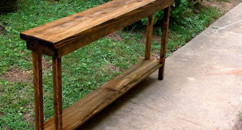 Skinny Entryway Table Build Home Design Tips