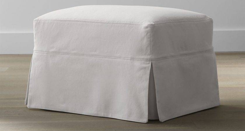 Slipcover Only Hathaway Glider Ottoman Petry Snow