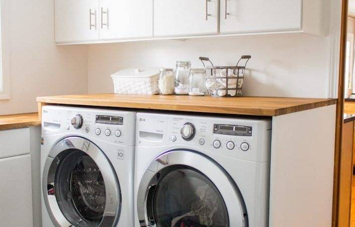 Small Laundry Room Remodel White House Black Shutters