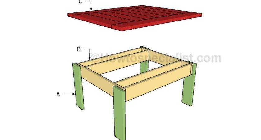 Small Outdoor Table Plans Howtospecialist Build