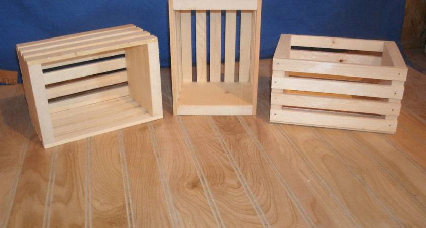 Small Wooden Crates Wood Storage Crate Ebay