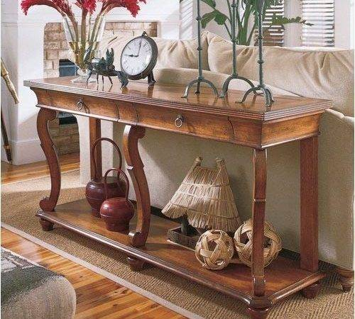 Sofa Table Decorating Ideas