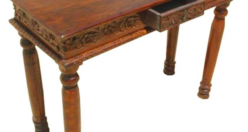 Solid Wood Handcrafted Sofa Entryway Hall Console Table