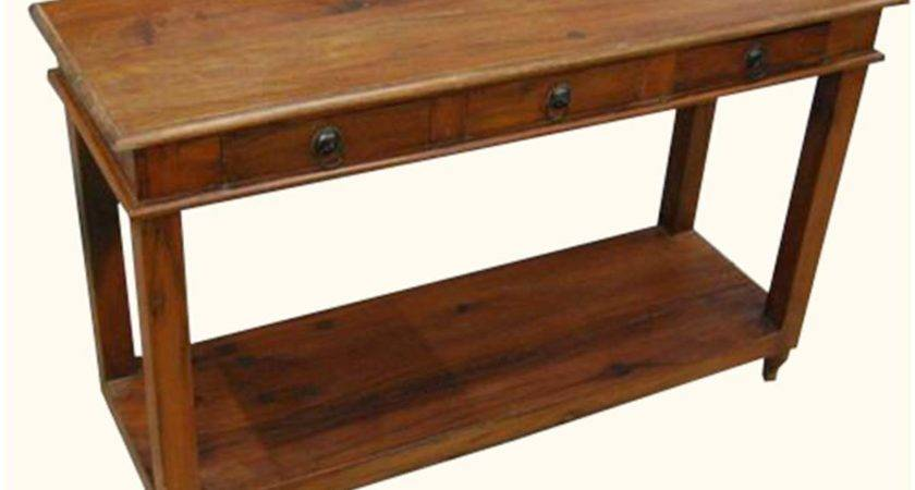 Solid Wood Sofa Hall Console Foyer Table Drawers