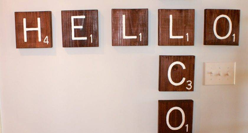 Some Like Project Scrabble Tile Wall Art