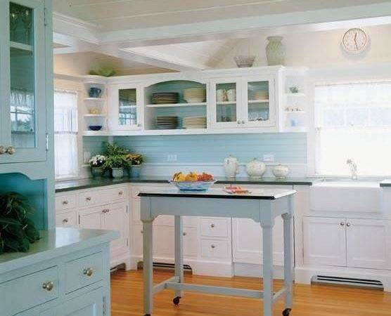 Something Blond Blue Kitchens