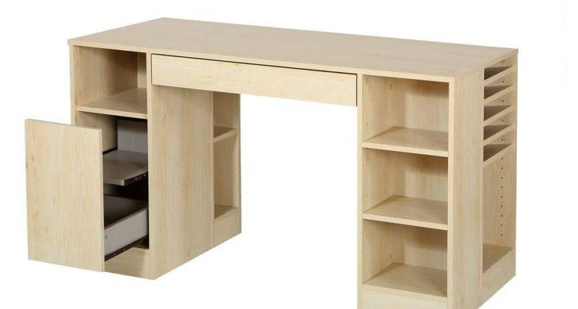 South Shore Crea Craft Table Natural Maple Home