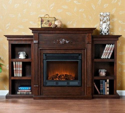 Southern Enterprises Tennyson Espresso Electric Fireplace