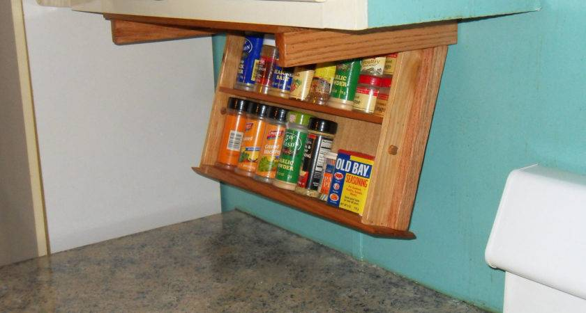 Spice Rack Drawer Under Cabinet Mounting Amwoodpro