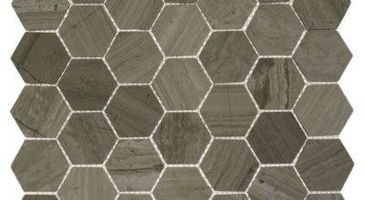 Splashback Tile Hexagon Wooden Beige