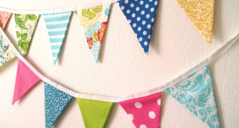 Spring Fabric Pennant Banner Garland Easter Bunting
