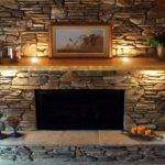 Stack Stone Fireplace Mantels Design Ideas