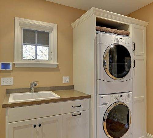 Stacked Laundry Enclosure