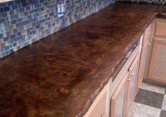 Stained Concrete Countertops Diy Imgkid