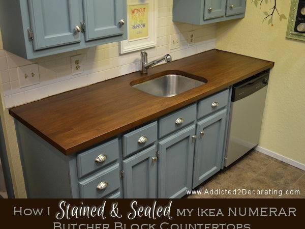 Stained Sealed Butcher Block Countertops