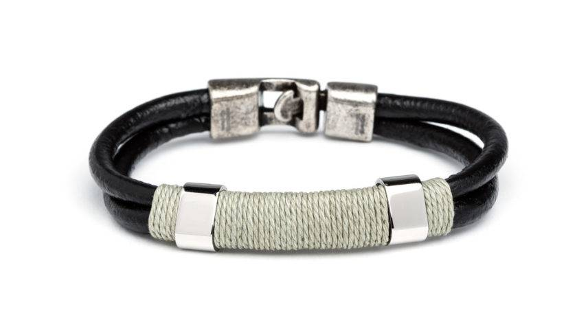 Stainless Steel Bracelet Wrap Cord Nes Touch Modern