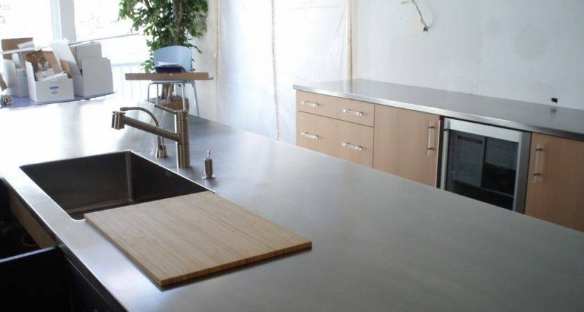 Stainless Steel Island Countertop Cutting Board