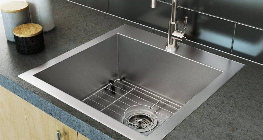 Stainless Steel Sink Single Bowl Square Corners