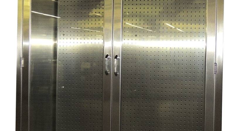 Stainless Steel Storage Cabinet Pegboard
