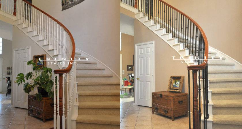 Stair Remodeling Before After Trinity