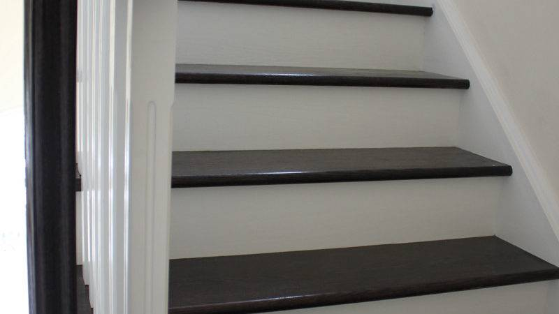 Stairs Step Basements Black Painted