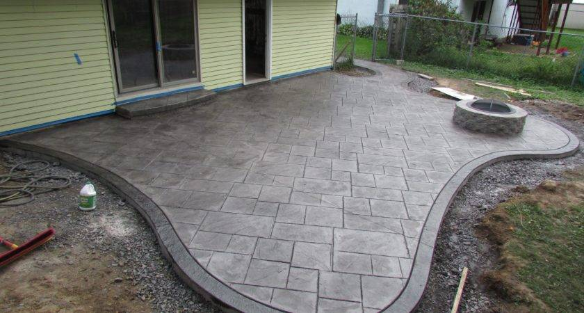 Stamped Concrete Patio Installation Don