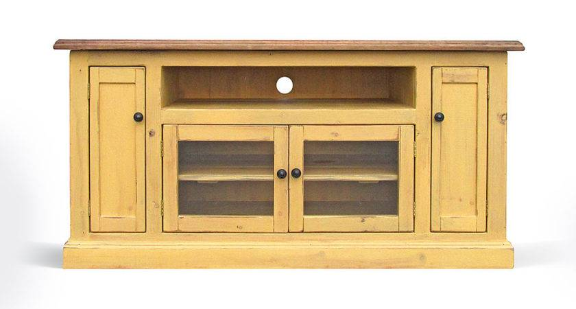 Stand Entertainment Console Farmhouse Reclaimed Wood