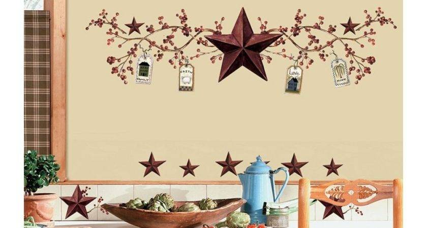 Stars Berries Wall Decals Country Kitchen Stickers