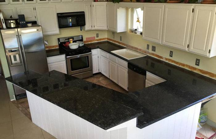 Steel Grey Granite Kitchen White Cabinets Custom