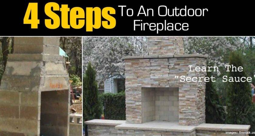 Steps Make Outdoor Fireplace
