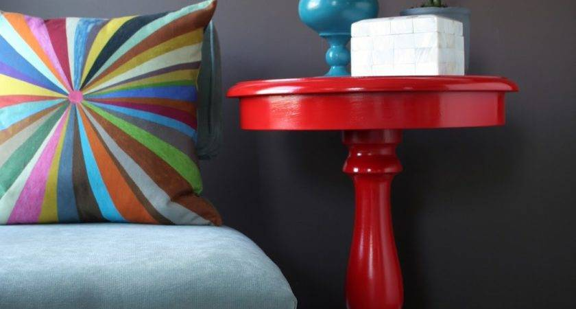Stuck Hue Glossy Lipstick Red Side Table