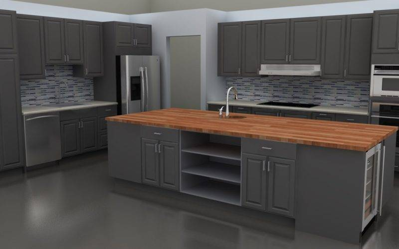 Stylish Lidingo Gray Doors New Ikea Kitchen