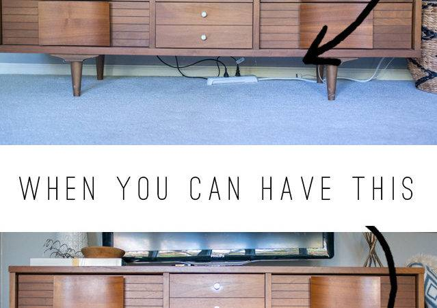Stylish Ways Hide Unsightly Cords Wires Your