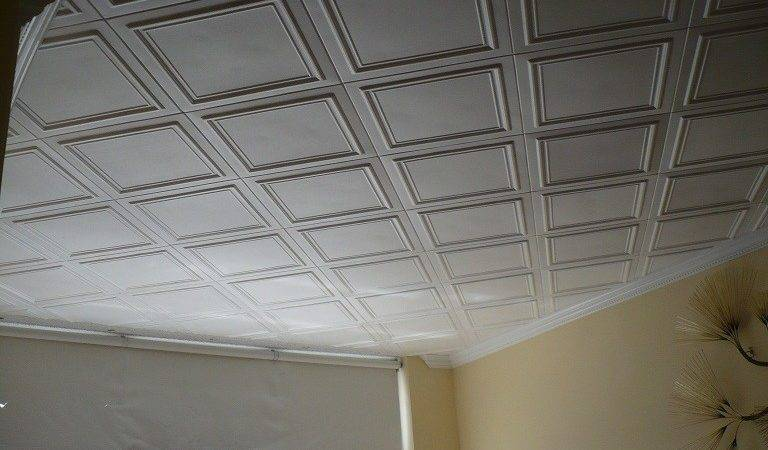 Styrofoam Ceiling Tiles Finished Projects