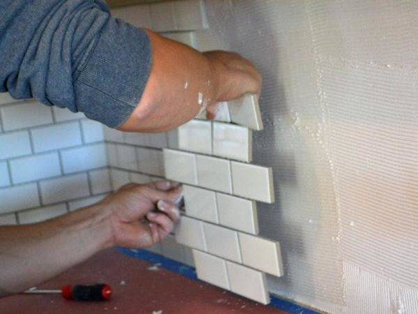 Subway Tile Backsplash Install Ana White Woodworking
