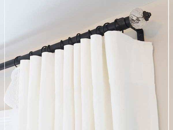 Super Duper Cheap Diy Electrical Conduit Curtain Rods