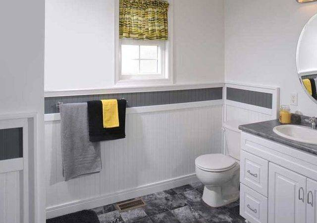 Supreme Wainscot Contemporary Bathroom Cleveland