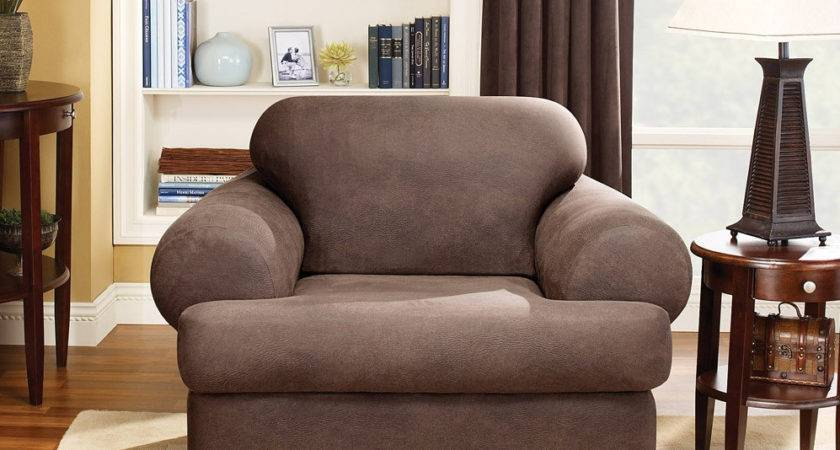 Sure Fit Stretch Leather Chair Cushion Slipcover