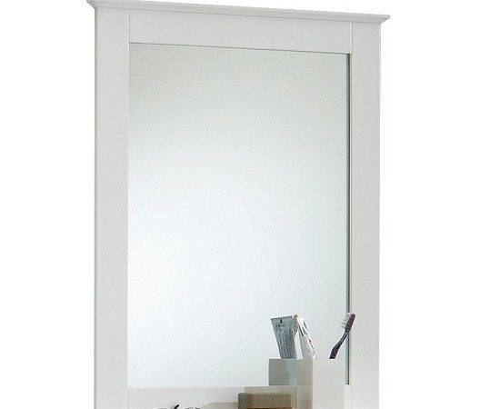 Sweden Bathroom Mirror White Shelf Furniture