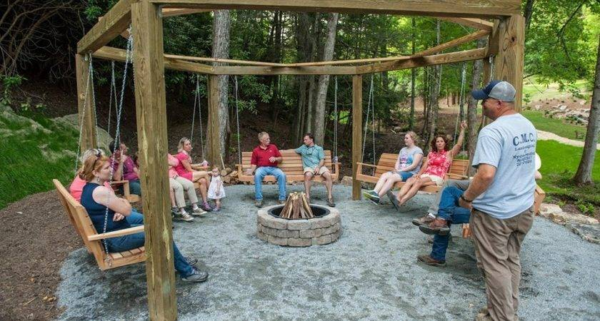 Swing Fire Pit Outdoor Goods