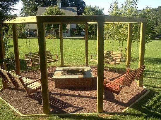 Swing Set Fire Pit They Night Bonfires