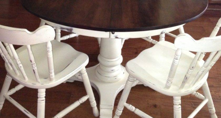 Table Chairs Old White Chalk Paint Faux Get