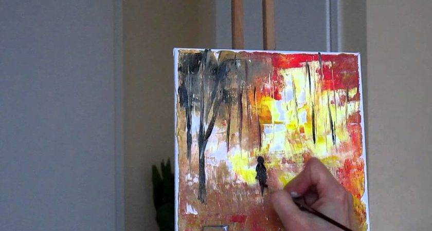 Tanja Bell Abstract Painting Trees Part Tutorial Palette