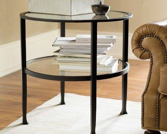 Tanner Round Side Table Bronze Finish Pottery Barn
