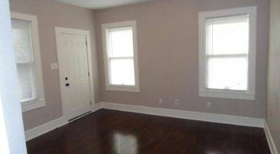 Taupe Painted Rooms White Walls Dark Wood Floors