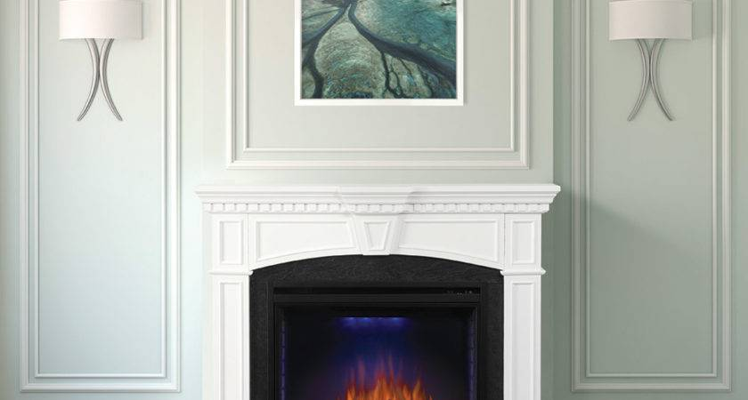 Taylor Electric Fireplace Mantel Package White Nefp
