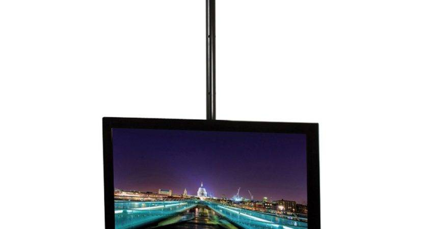 Tech Flat Screen Ceiling Mount Pole Black