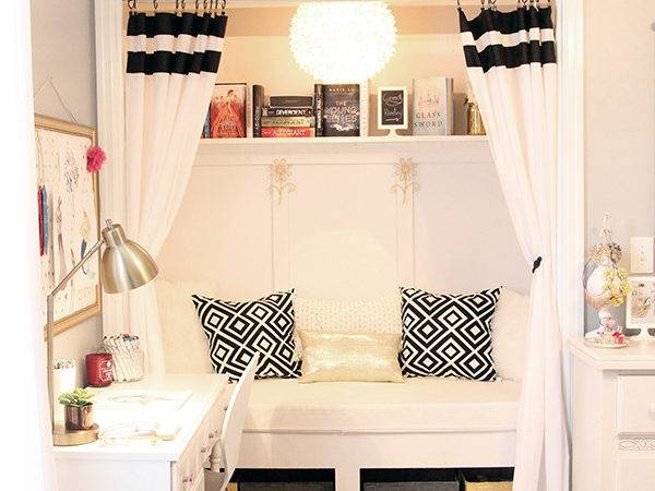 Teen Girl Room Closet Reading Nook Less