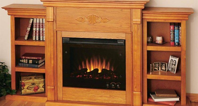 Teri Electric Fireplace Bookcases